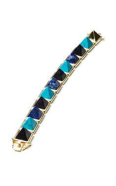 Gemstone Pyramid Bracelet by Eddie Borgo for Preorder on Moda Operandi