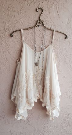 Image of Anthropologie sheer nude blush embroidery trapeze triple layer camisole tunic