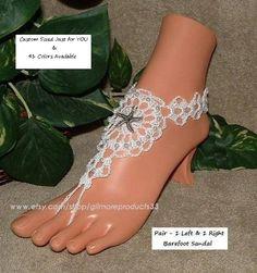 Barefoot Sandals Wedding, Beach Wedding Shoes, Crochet Barefoot Sandals, Bridal Sandals, Barefoot Shoes, Wedding Flats, Barefoot Beach, Wedding Summer, Trendy Wedding