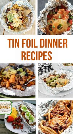Easy tin foil dinner recipes. These recipes are perfect for weekend camping trips or grilling on the bbq. Snack Recipes, Dinner Recipes, Snacks, Dinner Ideas, Easy Family Meals, Easy Meals, Dutch Oven Cooking, Cooking Tips, Tin Foil Dinners