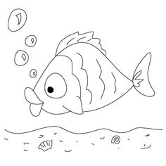 fish drawing for kids clipartsco - Basic Drawings For Kids