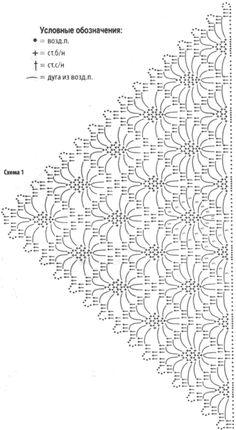 шали схемы вязания крючком