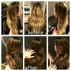 Before and after Balayage Haircolor By Lisa Fukuda Haircut By Amy Hatsushi  415 433 3030 @ Joseph Cozza Salon