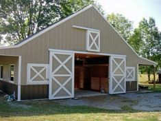 Simple practical Horse Barn- window instead of top sliding door