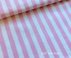 BTY Pink and White Awning Stripe Fabric by GraceLaneCottage