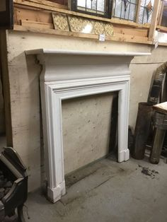 White Painted Cast Iron Fire Surround in stock and on display, please give us a call on 01580201258 or visit us in Stonegate, East Sussex, Log Burner, White Paints, Painted Fire Surround, Iron, Log Burner Living Room, White Fire Surround, Reclaimed Fireplace, Fire Surround, Surround