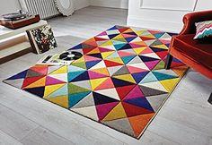Spectrum - Alfombra / Tapete con diseño moderno y abstracto - Multicolor Samba 120 x 170cm