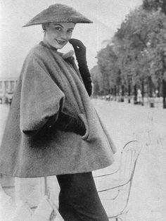 Wool/mohair swing jacket by Balenciaga, 1950