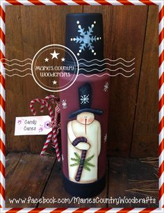 Just finished painting this thermos using a Katrina Roncin design with my own special touches.  Marie's Country Woodcrafts