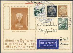 Germany, German Empire, Deutsches Reich 1935, 3 Pfg.-GA-Privatpostkarte, zur Münchner Postwertzeichen-Ausstellung (Müpa), mit Beifrankatur, gelaufen (Mi.-Nr.PP122C13/03). Price Estimate (8/2016): 15 EUR. Unsold.