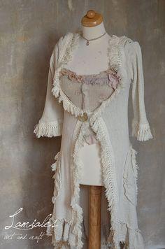 Creme Boheme Faerie Coat/Lamiales/autumn coat/ by LamialesCrafts