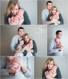 parent and newborn baby poses