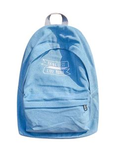 Blue Lightwash Embroidery Letter Classic Backpack