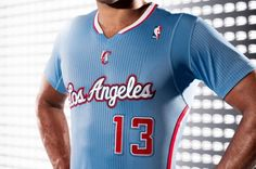6d58348ff Los Angeles Clippers   Back in Blue  sleeved jerseys unveiled Nba Uniforms