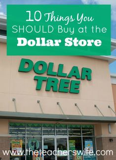 10 THINGS YOU SHOULD BUY AT THE DOLLAR STORE.
