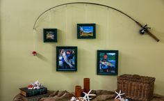 Diy Fishing Pole Frames Fishing Pole Frame Fishing Pole Decor Fishing Bedroom Decor