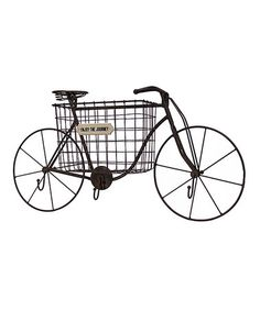 Take a look at this 'Enjoy the Journey' Bicycle Basket Wall Décor on zulily today!