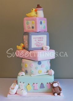 SweetThings: A 5-tier Baby Shower Cake in Pink!