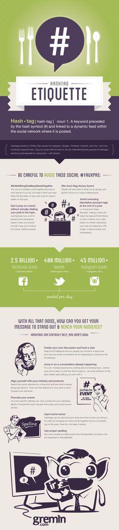 #hashtag: qualche consiglio su come utilizzarli in un'infografica