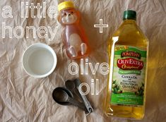DIY home made hair mask...similar to VO5 hot oil from the 80's
