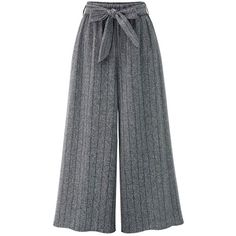 Gray 2xl Striped High Rise Wide Leg Pants ($15) ❤ liked on Polyvore featuring pants, gray pants, high-waisted wide leg pants, grey pants, striped wide leg pants and wide leg trousers