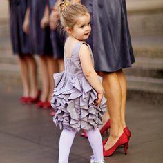 Ruffled flower girl dress   Photographer: Red Ribbon Studio