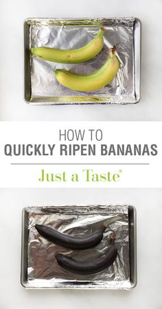Video: How to Quickly Ripen Bananas on justataste.com