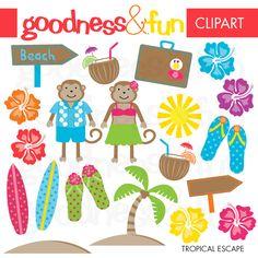 Tropical Escape - Cliparts - Mygrafico.com
