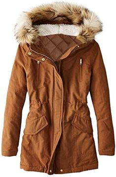 FSSE Women Winter Faux Fur Lined Thick Suede Mid Length Outdoor Jacket Coat