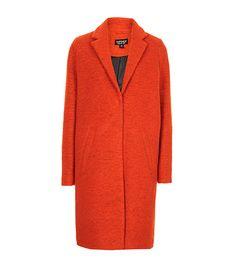 @Who What Wear - Topshop Wool Boyfriend Coat ($196) in Bright Orange- Love