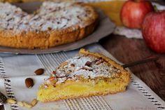 Crostata+di+mele+e+crema+con+crumble+di+mandorle+-+Anche+Bimby