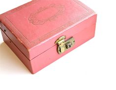 I had a jewelry box just like this one when I was a teenager. I should have kept it!  Store Your Treasures  Vintage Pink Mid Century Jewelry by becaruns, $16.50
