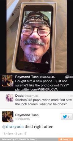 Hahaha! Papa Tuan is really cute! :))