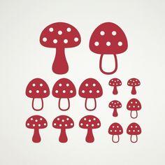 Mushroom Decals Toadstool Stickers
