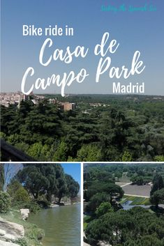 Casa de Campo park in Madrid, Spain. The perfect place for a bike ride. Blog post by Seeking the Spanish Sun www.seekingthespanishsun.com