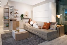 SLEEPING WALL A new movement for more space The Sleeping Wall- more than just a place saving solution. Thing 1, Compact Living, Murphy Bed, Sofa Bed, Apartments, Sleep, Space, Live, Interior