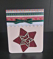 Papiernictvo - vianočný pozdrav - hviezda - 6042133_