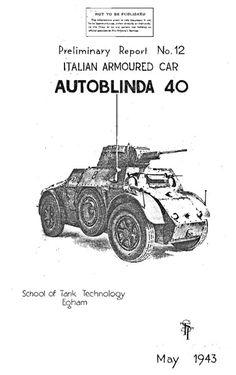 The Italian Autoblinda 40 armoured car - mlrsbooks.co.uk