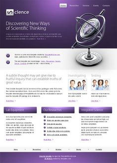 Science HTML5 Website Template