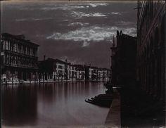 Carlo Naya  Canal Grande con effetti al chiaro di luna, Venezia, (1880)  Mart, Collezione Trevisan  www.mart.tn.it/andataericordo
