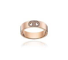 H d'Ancre rose gold ring
