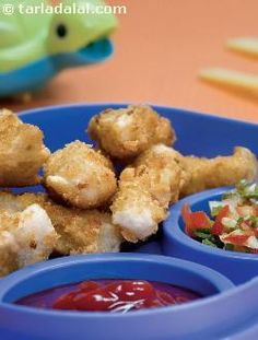 A super alternative to french fries! crushed cornflakes lend a nice crunchy texture and appearance to the fingers. Since children usually enjoy potatoes, this is likely to be a big hit with them. Dip into tomato ketchup and enjoy this wonderful snack!