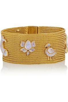 22-karat gold moonstone bracelet