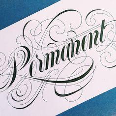 Hand Lettering by nim ben-reuven, via Behance