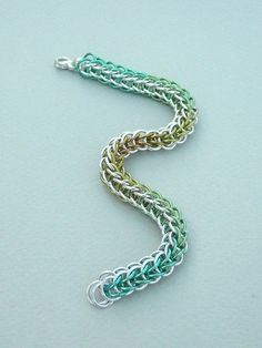 Chain maille bracelet argentium sterling silver and by kzanstrats