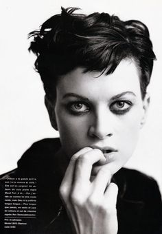 Kristen McMenamy by Mario Testino - Glamour France | Sept. 1993