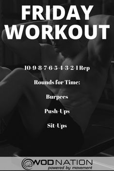 Crossfit Workouts At Home, Wod Workout, Insanity Workout, Friday Workout, Workout Challenge, Workout Fitness, Crossfit Workout Program, Crossfit Abs, Trainer Fitness