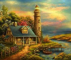 Lighthouse On Emerald Cove~ Love It!