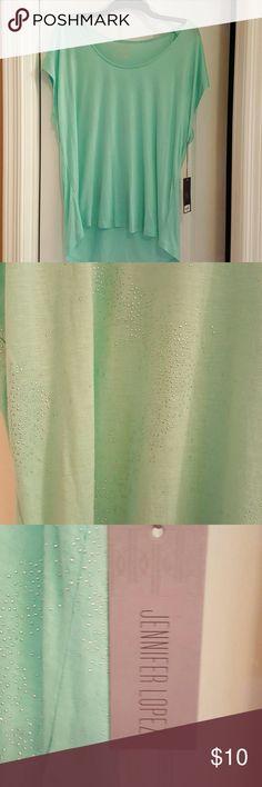 Nwt Jennifer Lopez top.xl Pretty mint green with waves of sparkle. Jennifer Lopez Tops Blouses