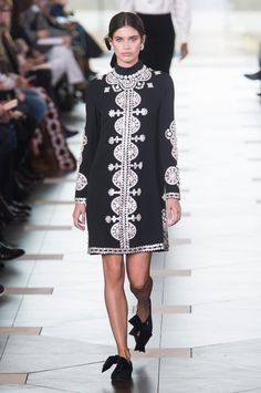 60be0cbf6abc A look from Tory Burch Fall 2017. Photo  Imaxtree. Work Fashion